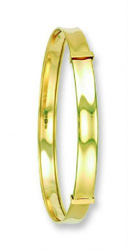 Baby Bangle Baby Bracelet Yellow Gold Expandable A B C Baby Bangle Christening
